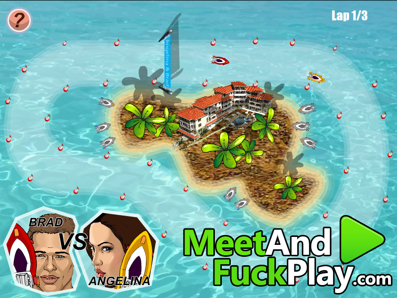 Angelina and Brad Meet and Fuck Game